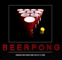 Beer Pong Poster by pixelworlds