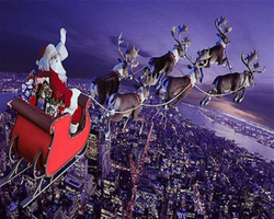 Santa Claus Sleigh Ride by myjavier007