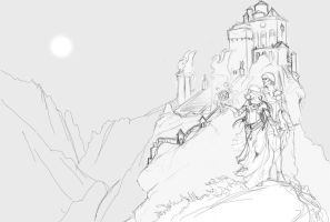 Misted Cliffs Sketch 1 by puimun
