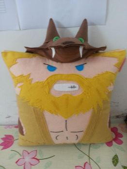 League of Legends LOL Black Belt Udyr Pillow by RbitencourtUSA