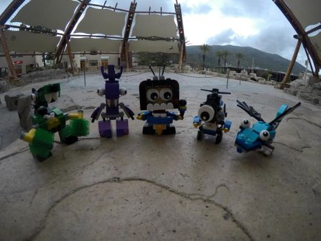 My lego Mixels at the Viejas Outlet Showcourt by Zekrom734