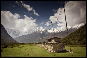 Mani wall near Samdo by Dominion-Photography