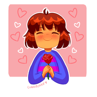 Undertale Rose Collection - Frisk by CubedCake