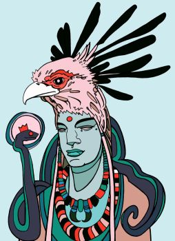 Shaman of the Feathered Serpent by disalvatron