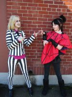 Beetlejuice and Lydia cosplay 3 by Slaughterose