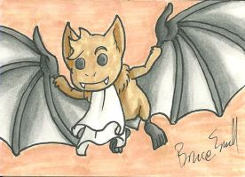 Bat Timmy Sketch Card by ibroussardart