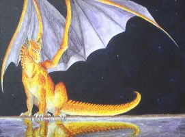 Dragon painting by MysticTriana