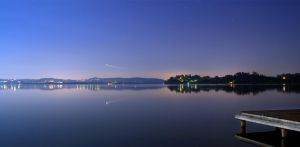 Lake by Night by cgphotopro