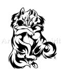 Cuddle Wolves Tattoo Design by WildSpiritWolf