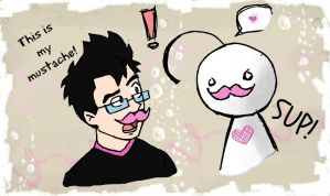 Markiplier 16 - This is my mustache! by wilhelmblack1945