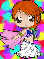 Nami Chibi By Chibivi Linearts-colored by crochetamommy