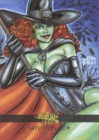 LEGENDS and LORE WITCH SKETCH CARD 2 by AHochrein2010