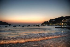 kini beach by night by Nat-ty