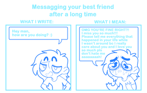 Messagging your best friend by SmokyJack
