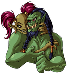 WoW - Orc Couple by kozu