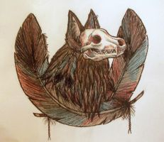 Skull Wolf Thing by Keitikins