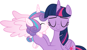 Flurry Heart kisses Aunt Twilight by CloudyGlow