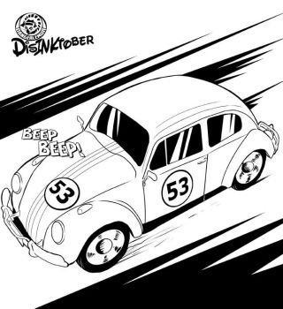 Inktober Entry #3: Herbie the Love Bug by MachSabre