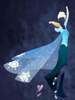 Minimalist Elsa (Frozen) (Commission) by Because-Im-Pink