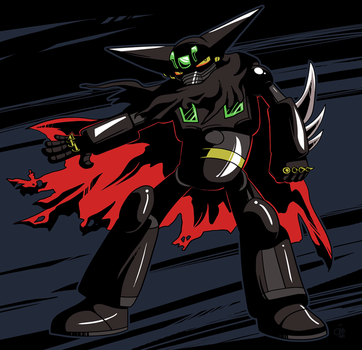 Commission - Black Getter Robo by raizy
