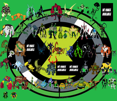 All of 16 year old Ben's omniverse aliens so far 6 by Mastvid