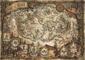 Age of Gold Fantasy Map by FrancescaBaerald