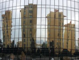 Flame Towers as a mirror by NiVosta