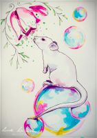 Mouse bubble by LunaDiCarlo