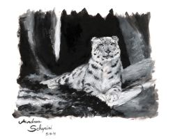 Snow panther - oil by AndreaSchepisi