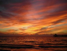 Sunset at the Naples FL Pier by Tonar