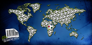World Map and football by marh333