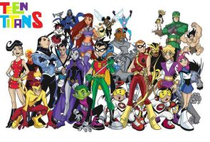 Teen Titans Toghether Avatar Contest Entry by rmw10924