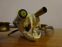 Steampunk Servo Skull: Skunk 01 by lizardman22