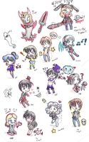 CHIBI INVASION D: by 19DarkArtist94
