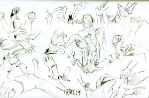 Hands Sketch by Fayerin