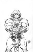 He-Man Print Lineart by ToneRodriguez