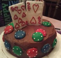 Poker (82nd Birthday) Cake by sherryl22