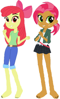 Equestria Girls - Apple Cousins by ChipmunkRaccoon2