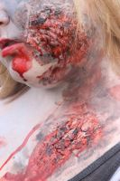 Zombie Face and Chest Burn Closeup by FantasyBri