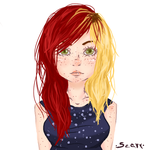 Two colors in her hair by dookia