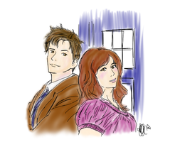 The Doctor and Donna by rhamana