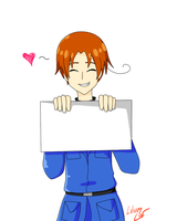 Hetalia Blank Sign: North Italy by LiliumLief