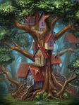 Houses on the tree by sashulka