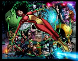 Jim Cheung Spider Woman Final by tas1138