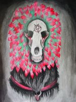Demonic Skull by BrittanyLovesPeanut