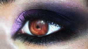 Dark purple makeup look by Desert-Winds