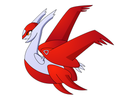Mega Latias (red) by AwokenArts