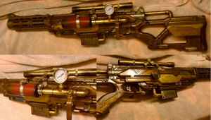 Steampunk Sniper Rifle (Nerf Longstrike) by relasine