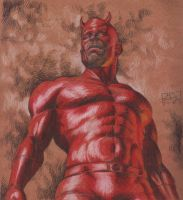 A free-hand Daredevil... by iergoth