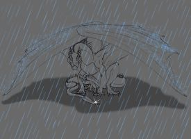 Through the Pain in the Rain by LamLArts